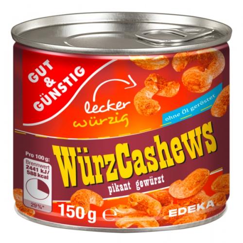 Würz-Cashews, Februar 2018