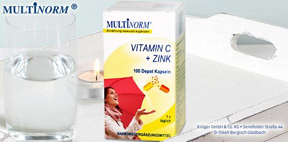 Vitamin C + Zink + Selen + Vitamin D3 Kapseln, Oktober 2010