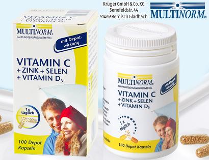 Vitamin C + Zink + Selen + Vitamin D3 Kapseln, Oktober 2013
