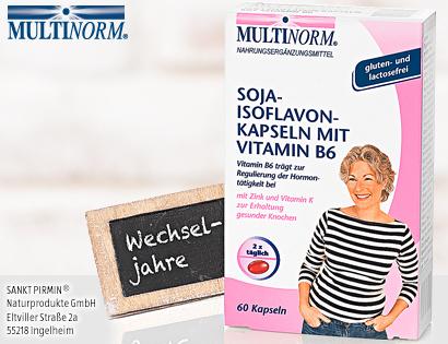 Soja Isoflavon Kapseln mit Vitamin B6, Dezember 2013