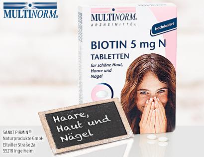 Biotin 5 mg N Tabletten, Dezember 2013