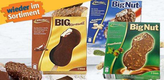 Stieleis - Big Nut oder Big Karamell, 3x 100 ml, Mai 2012