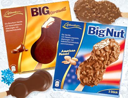 Stieleis - Big Nut oder Big Karamell, 3x 100 ml, Mai 2013