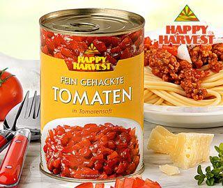 Tomaten, fein gehackt, in Tomatensaft, November 2007