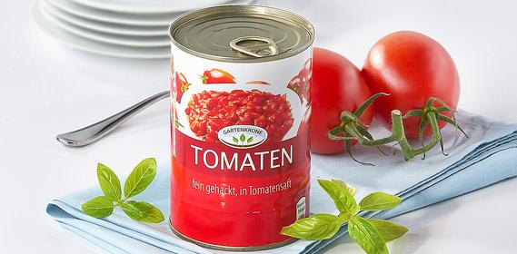 Tomaten, fein gehackt, in Tomatensaft, Oktober 2010