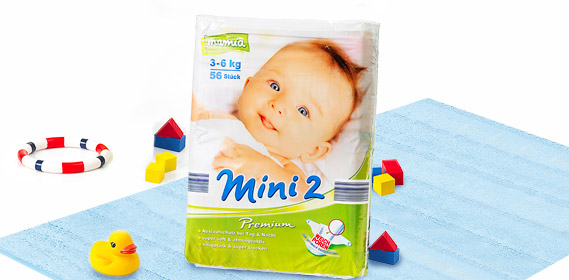 Premium-Windeln, Mini 2, Juli 2010