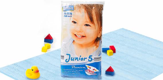 Premium-Windeln, Junior 5, Juli 2010