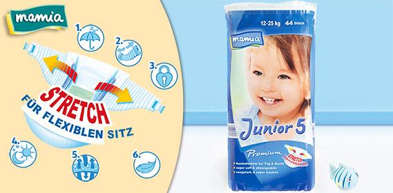 Premium-Windeln, Junior 5, Januar 2012