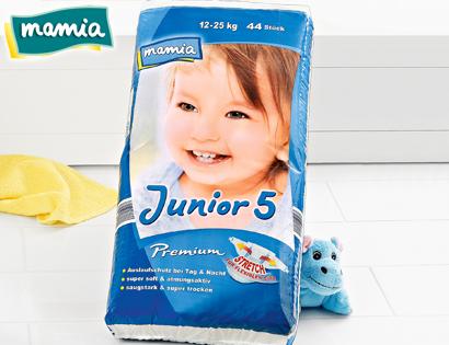 Premium-Windeln, Junior 5, September 2013