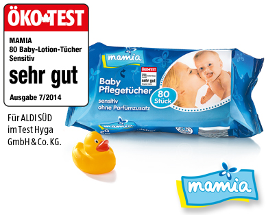 Baby-Lotion-Tücher, November 2014