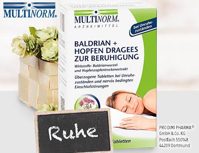 Baldrian + Hopfen Dragees, Dezember 2013