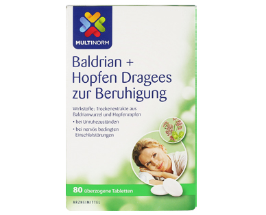 Baldrian + Hopfen Dragees, Dezember 2017