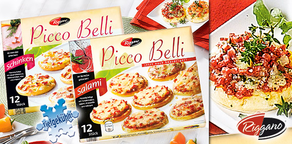 Picco Belli, Mini-Pizza, 12x 30g, Mai 2011