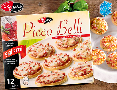 Picco Belli, Mini-Pizza, 12x 30g, Mai 2013