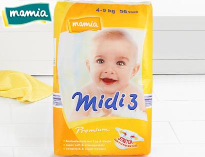 Premium-Windeln, Midi 3, September 2013
