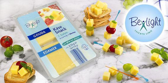 Käse-Snack in Würfeln, 2x 110 g, August 2010
