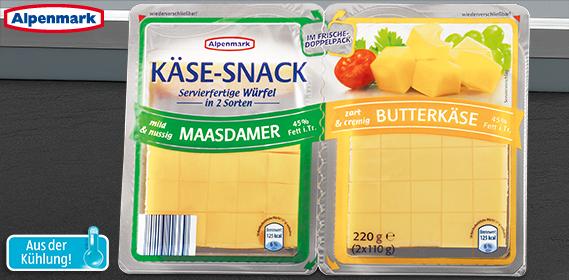 Käse-Snack in Würfeln, 2x 110 g, Dezember 2012