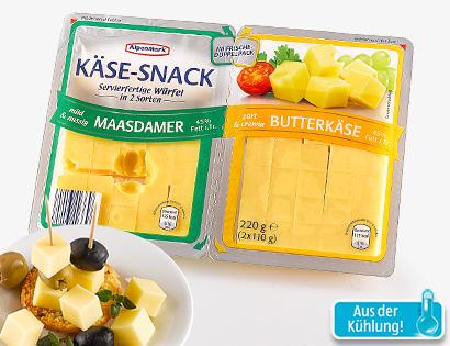 Käse-Snack in Würfeln, 2x 110 g, Mai 2014