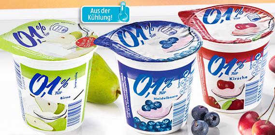 Fruchtjoghurt 0,1 % Fett, November 2012