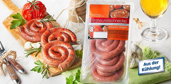 Bratwurstschnecke, 3x 100g, Juli 2010