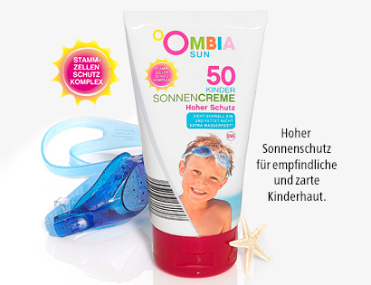 Sonnencreme für Kinder, LSF 50, April 2014