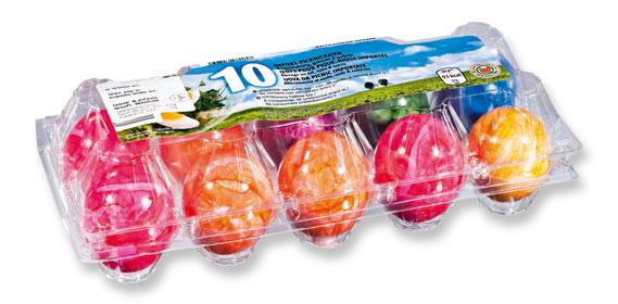 Gekochte, bunte Eier, Mai 2012
