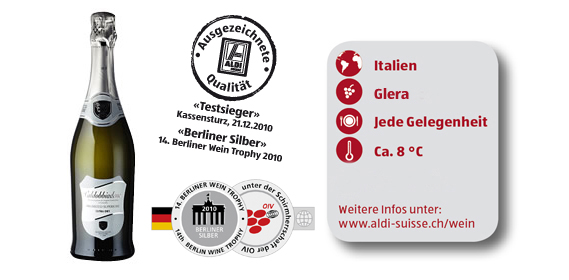 Prosecco Spumante Superiore di Valdobbiadene DOCG, M�rz 2012
