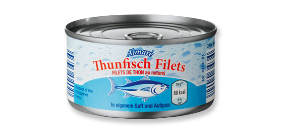 Thunfisch-Filets in eigenem Saft, Juli 2012
