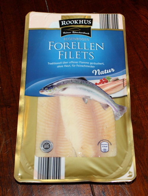 Forellen-Filets, geräuchert, Januar 2013