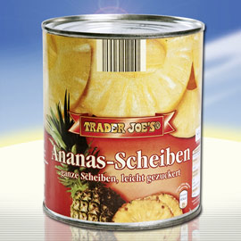 Ananas in Scheiben, Juli 2010