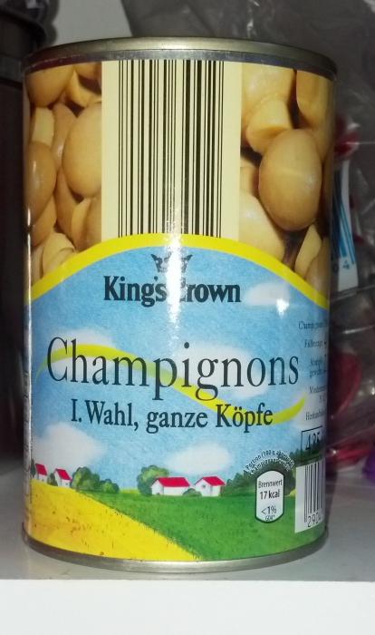 Champignons ganze Köpfe, I. Wahl, August 2012