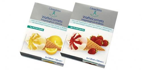 Waffelcornet Magerjoghurt, August 2008