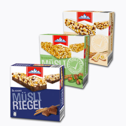 Müsli-Riegel,  8x25 g, September 2014