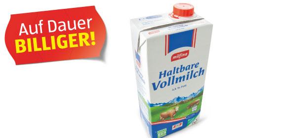 Haltbare Vollmilch 3,5% Fett, April 2012