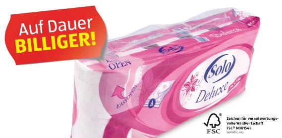 Toilettenpapier Deluxe, 4-lagig, 150 Blatt, Dezember 2012