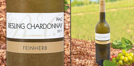 Riesling Chardonnay Rheinhessen/Pfalz QbA, April 2012