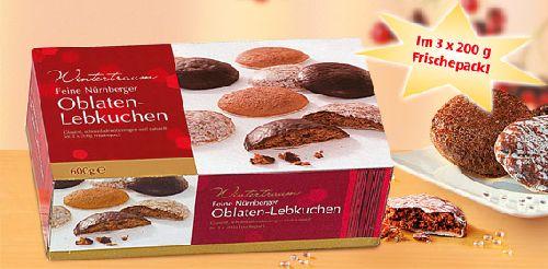 Feine Nürnberger Oblaten-Lebkuchen, 3x 200 g, Oktober 2007