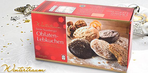 Feine Nürnberger Oblaten-Lebkuchen, 3x 200 g, Oktober 2011