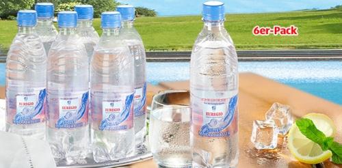 Mineralwasser, Still, 6x 0,5 L, Juni 2008
