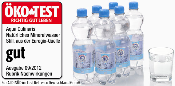 Mineralwasser, Still, 6x 0,5 L, Dezember 2012