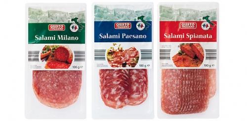 Salami aus Italien geschnitten, August 2008
