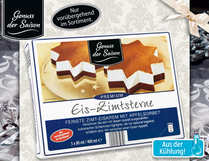 Eis-Zimtsterne, 5x 80 ml, November 2013