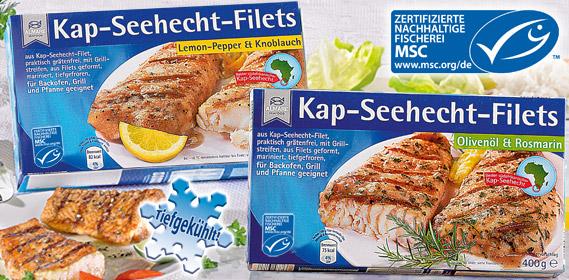 Kap-Seehecht-Filets, Februar 2013
