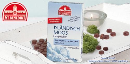 Isländisch Moos Halspastillen, Oktober 2008