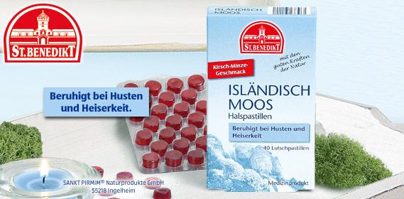 Isländisch Moos Halspastillen, Oktober 2010