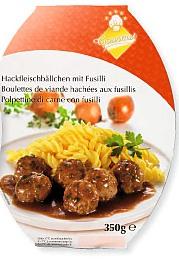Hackfleischbällchen mit Fusilli, November 2008