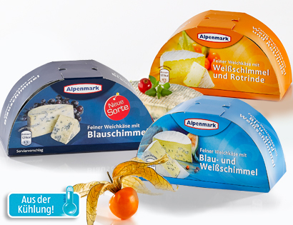 Cremiger Weichkäse, Halbmondform, April 2014