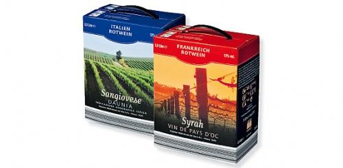 Rotwein in der Bag-in-Box, August 2009