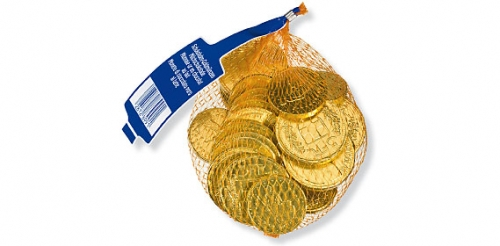 Schoko Goldmünzen, Oktober 2009