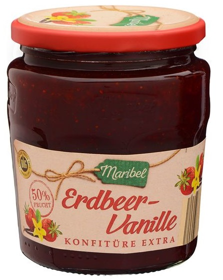 Konfitüre Extra Erdbeer-Vanille, Juni 2017